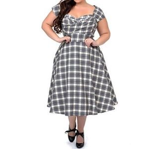 STOP STARING! PLAID MAD SWING DRESS PLUS SIZE 18